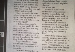 """To the women in my engineering classes"" letter to the editor thumbnail"
